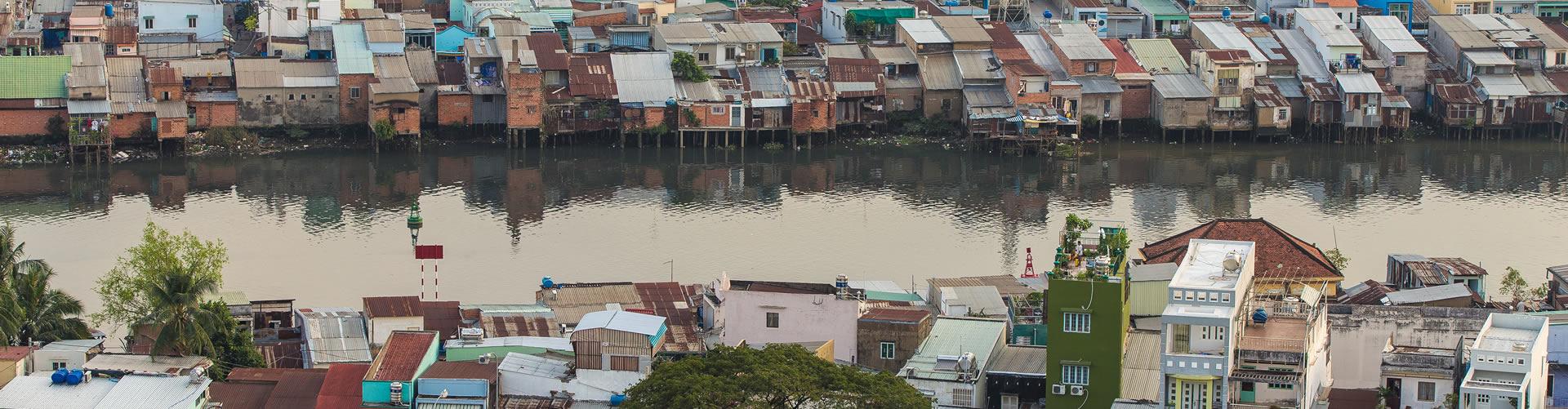 Ho Chi Minh City riverside in Vietnam © Vietnam Art / Shutterstock