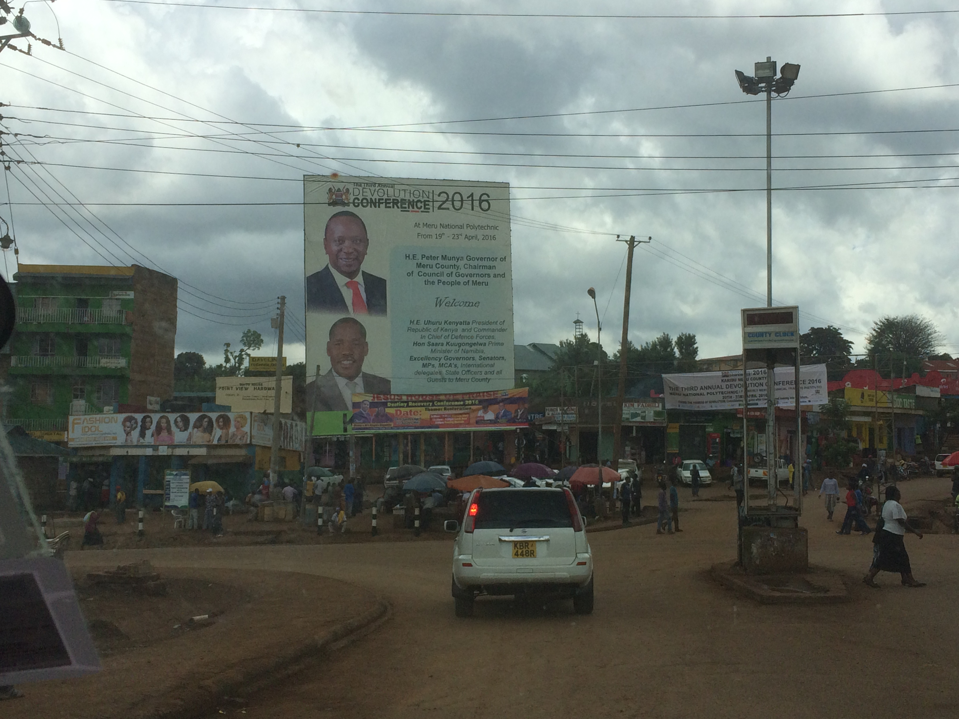Meru town welcomes the Devolution Conference delegates