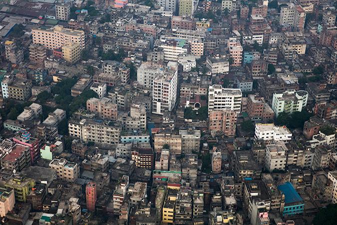 Aerial view of Dhaka, Bangladesh © Dominic Chavez/World Bank