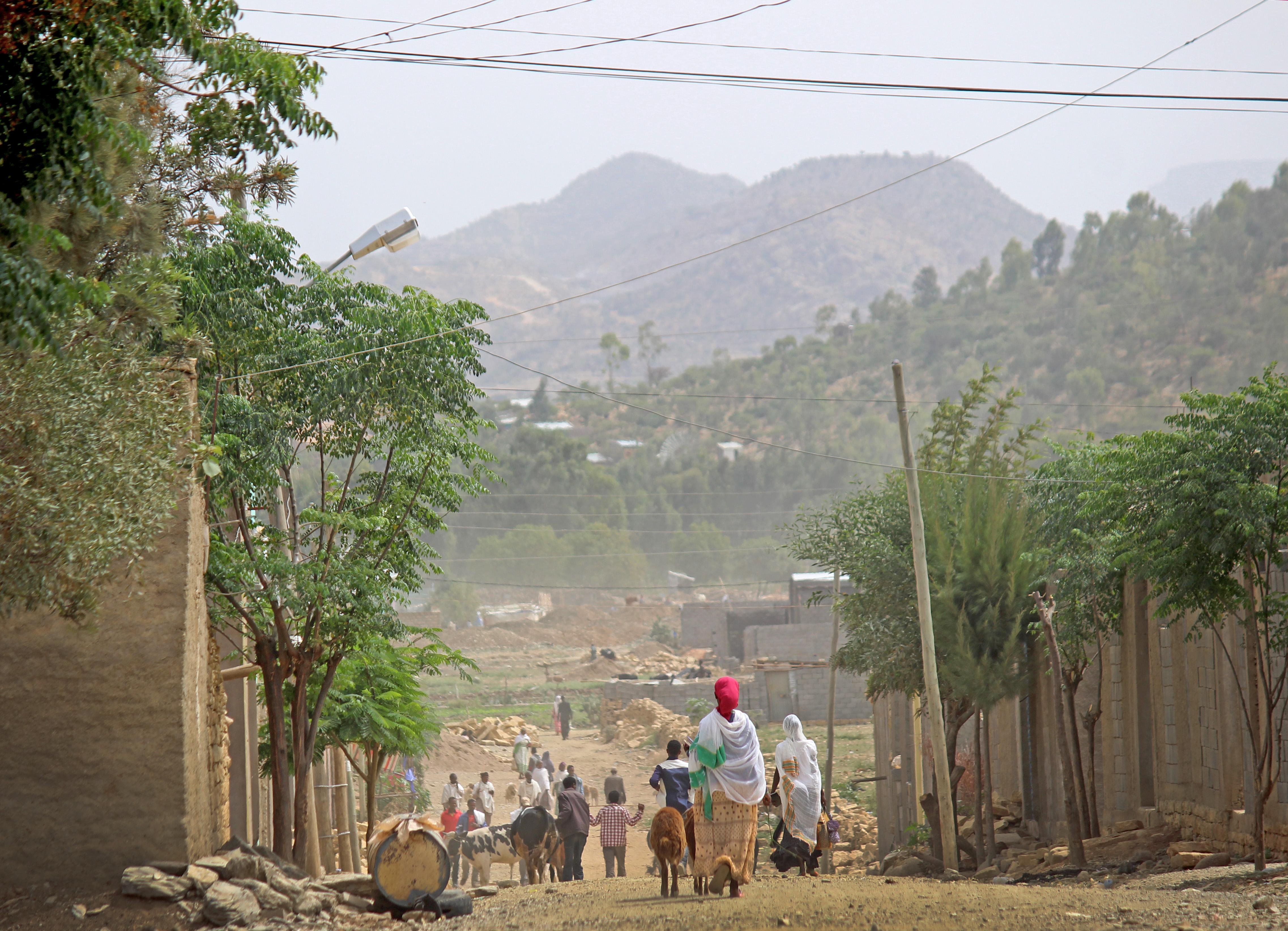 Street in Wukro, Ethiopia; credit: Marina Korzenevica Proud; Credit: Marina Korzenevica-Proud