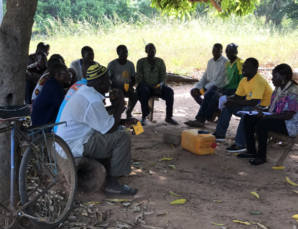 A focus group in Banfora, Burkina Faso to discuss local understandings of empowerment and linkages to water (Maria Reyes, IRC)