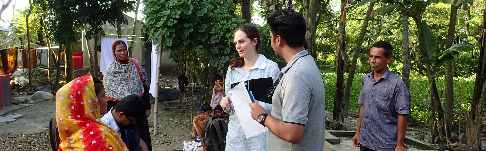 Saskia Nowicki leading field work in Matlab, Bangladesh