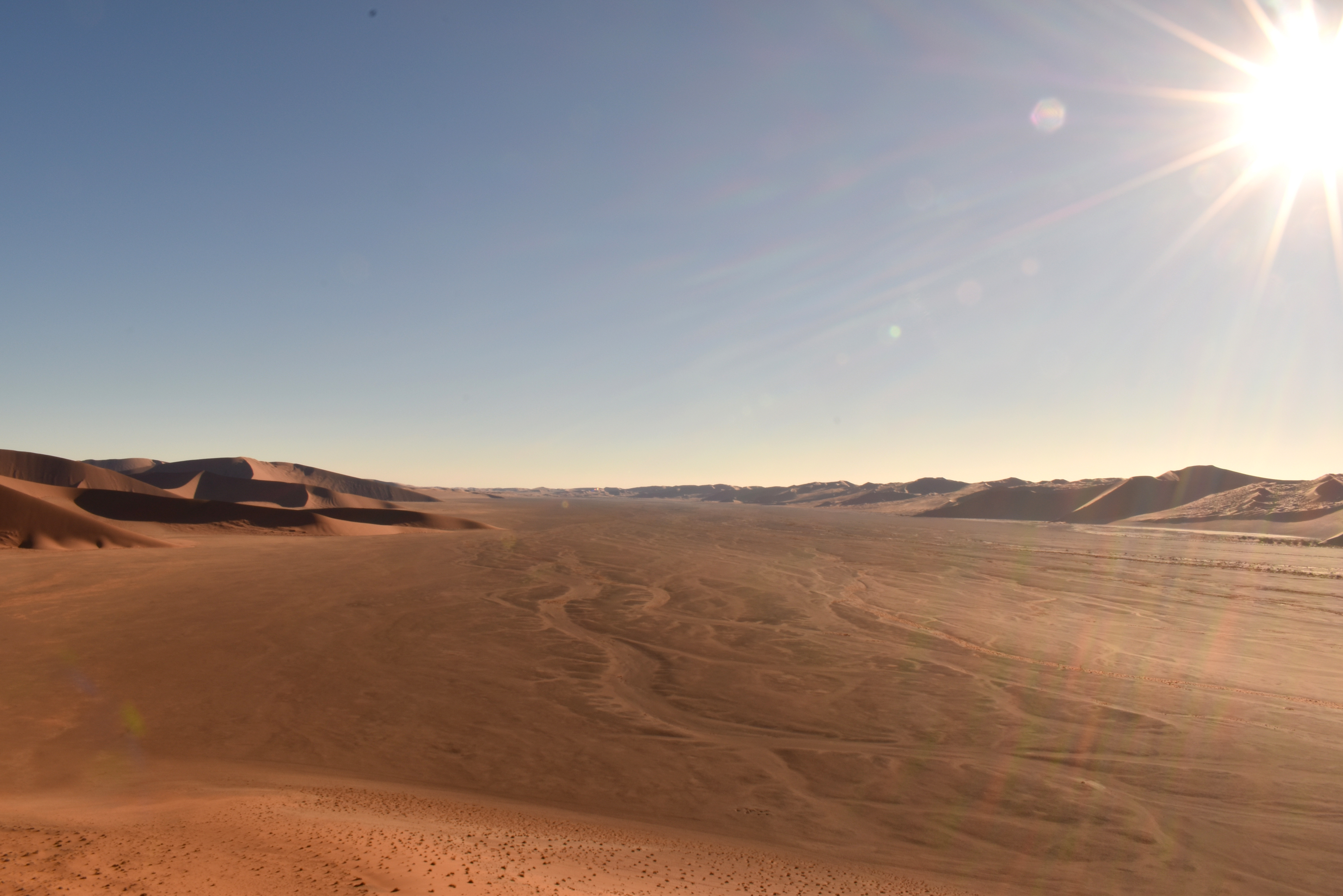 Dry landscape in Namibia. Credit: Dr Callum Munday.